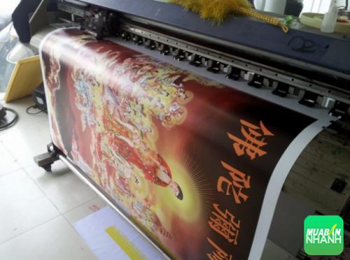 Máy in bạt khổ lớn cho ra thành phẩm bạt in hình Bồ Tát trang trí chất lượng cao