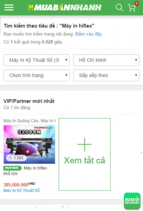 Tìm kiếm và chọn mua máy in hiflex