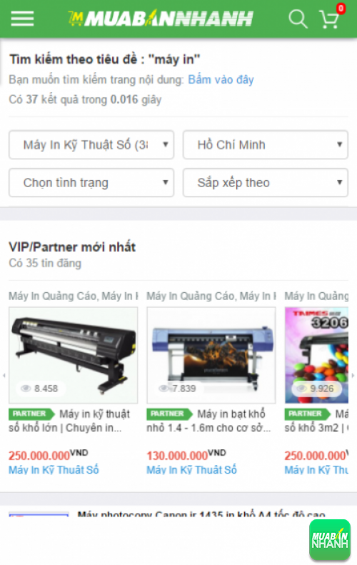 Tìm kiếm và chọn mua máy in khổ 1m2