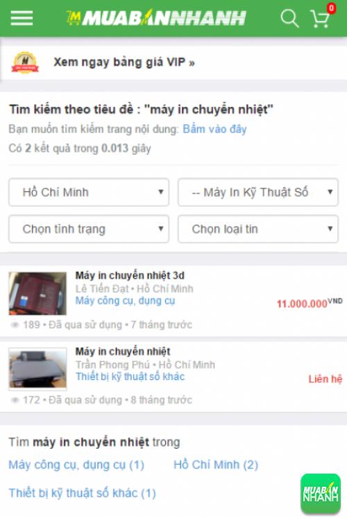Tìm kiếm và chọn mua máy in chuyển nhiệt